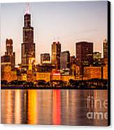 Chicago Downtown City Lakefront With Willis-sears Tower Canvas Print by Paul Velgos