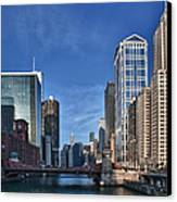 Chicago River Canvas Print by Sebastian Musial