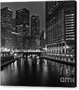 Chicago Riverwalk Canvas Print by Eddie Yerkish