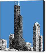 Chicago Sears Tower - Slate Canvas Print by DB Artist