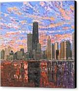 Chicago Skyline - Lake Michigan Canvas Print by Mike Rabe