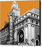 Chicago Theater - Dark Orange Canvas Print by DB Artist