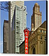 Chicago Theatre - This Theater Exudes Class Canvas Print by Christine Till