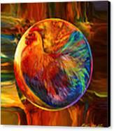 Chicken In The Round Canvas Print by Robin Moline
