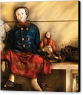 Children - Toys - Assorted Dolls Canvas Print by Mike Savad