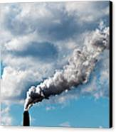 Chimney Exhaust Waste Amount Of Co2 Into The Atmosphere Canvas Print by Ulrich Schade