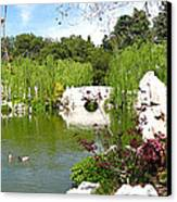Chinese Gardens Canvas Print by Bedros Awak
