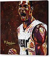 Chris Bosh Canvas Print by Maria Arango