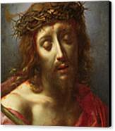 Christ As The Man Of Sorrows Canvas Print by Carlo Dolci