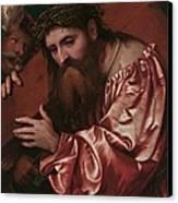 Christ Carrying The Cross Canvas Print by Girolamo Romanino