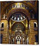 Christ Is Risen - St Louis Basilica Canvas Print by Thia Stover