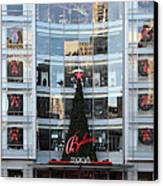 Christmas At San Francisco Macy's Department Store - 5d20550 Canvas Print by Wingsdomain Art and Photography