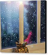 Christmas Candle Canvas Print by Brian Wallace