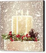 Christmas Candles Canvas Print by Amanda And Christopher Elwell
