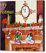 Christmas Card Canvas Print by Irina Sztukowski