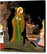 Christmas Crib Scene Canvas Print by Gaspar Avila