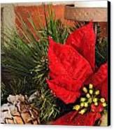 Christmas Decor Close Canvas Print by Kenneth Sponsler