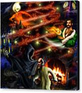 Christmas Greeting Card Canvas Print by Alessandro Della Pietra