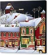 Christmas In Holly Ridge Canvas Print by Catherine Holman