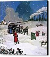 Christmas Scene Canvas Print by English School