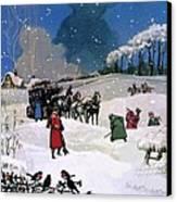 Christmas Scene Canvas Print by English School