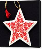 Christmas Star Canvas Print by Anne Gilbert