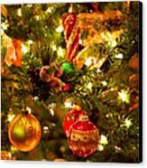 Christmas Tree Background Canvas Print by Elena Elisseeva