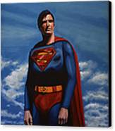 Christopher Reeve As Superman Canvas Print by Paul Meijering