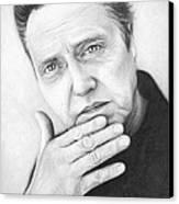 Christopher Walken Canvas Print by Olga Shvartsur