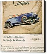 Chrysler 1928 1920s Usa Cc Cars Canvas Print by The Advertising Archives