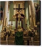 Church Altar Canvas Print by Aged Pixel