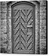 Church Door 02 Canvas Print by Antony McAulay