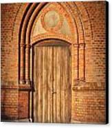 Church Door Helsingborg Canvas Print by Antony McAulay