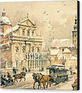 Church Of St Peter And Paul In Krakow Canvas Print by Stanislawa Kossaka
