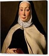 Cignani Carlo, Portrait Of A Nun, 17th Canvas Print by Everett