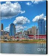 Cincinnati Skyline Canvas Print by Mel Steinhauer