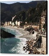 Cinque Terre Canvas Print by Leslie Leda