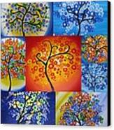 Circle Trees Canvas Print by Cathy Jacobs