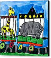 Circus Train Canvas Print by Max Kaderabek Age Eight