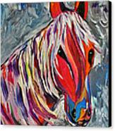 Cisco Abstract Horse  Canvas Print by Janice Rae Pariza