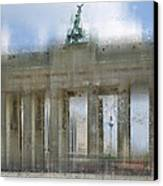City-art Berlin Brandenburg Gate Canvas Print by Melanie Viola