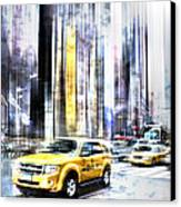 City-art Times Square II Canvas Print by Melanie Viola