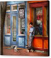 City - Baltimore Md - Waiting By Joe's Bike Shop  Canvas Print by Mike Savad