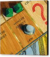 City Island Monopoly Iv Canvas Print by Marguerite Chadwick-Juner