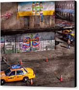 City - New York - Greenwich Village - Life's Color Canvas Print by Mike Savad