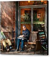 City - New York - Greenwich Village - The Path Cafe  Canvas Print by Mike Savad