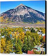 City Of Crested Butte Colorado Panorama   Canvas Print by James BO  Insogna