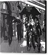 City Rain Canvas Print by Dan Sproul