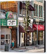 City - Roanoke Va - Down One Fine Street  Canvas Print by Mike Savad
