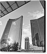 Citycenter - View Of The Vdara Hotel And Spa Located In Citycenter In Las Vegas  Canvas Print by Jamie Pham